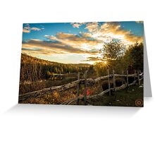 Autumn Sunset Landscape Greeting Card