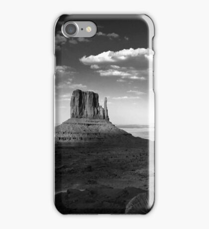 Monument Valley in Black & White  iPhone Case/Skin