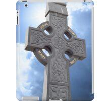 celtic cross head stone iPad Case/Skin