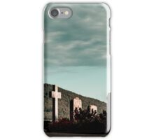 New catholic cemetery in french village, Alsace, France iPhone Case/Skin