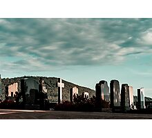 New catholic cemetery in french village, Alsace, France Photographic Print