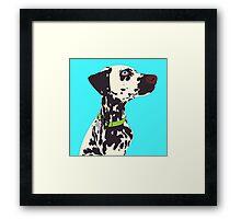 Sammie the Dalmatian Portrait Framed Print