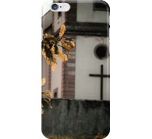 Catholic church in little french village, Alsace, France iPhone Case/Skin