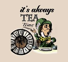 """""""It's always tea time"""" Mad Hatter Dictionary Art Womens Fitted T-Shirt"""