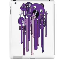 melting faces purple iPad Case/Skin