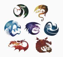 Dragon Classes - Galaxy Baby Tee