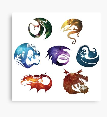 Dragon Classes - Galaxy Canvas Print