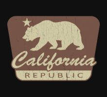 California Republic (vintage park style) One Piece - Short Sleeve