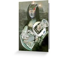 Mona With Christ Child 2. Greeting Card