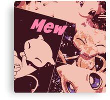 Mew Pokemon Canvas Print