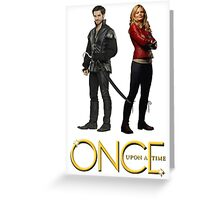 once upon a time, ouat, ouat swan hook, emma and killian, swan and hook, back to back version 2 Greeting Card