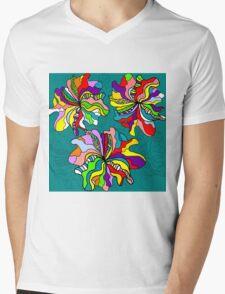 Bright Abstract Floral 7 Mens V-Neck T-Shirt