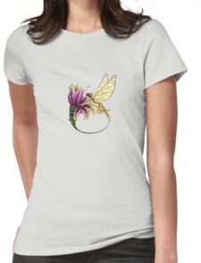 fairy opening flower colored Womens Fitted T-Shirt