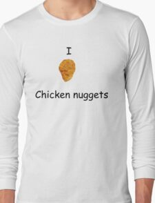 I Heart Chicken Nuggets Long Sleeve T-Shirt