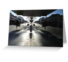 Window Reflection,Top Ryde,Australia 2014 Greeting Card