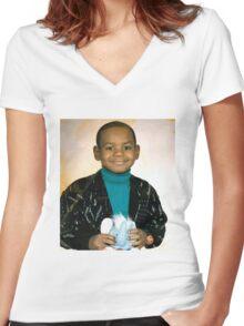 LeBron James (Kid) Women's Fitted V-Neck T-Shirt