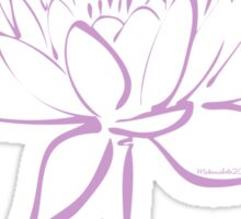Serenity Tranquility Lotus (Lavender) Sticker