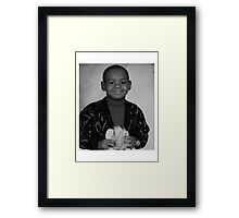 LeBron James (Kid BW) Framed Print