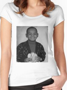 LeBron James (Kid BW) Women's Fitted Scoop T-Shirt