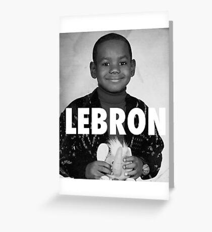 Lebron James (LeBron) Greeting Card