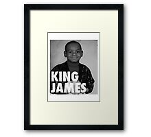Lebron James (KING JAMES) Framed Print