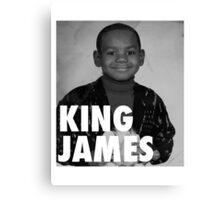 Lebron James (KING JAMES) Canvas Print