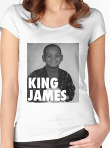 Lebron James (KING JAMES) Women's Fitted Scoop T-Shirt