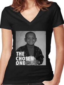 LeBron James (The Chosen One) Women's Fitted V-Neck T-Shirt