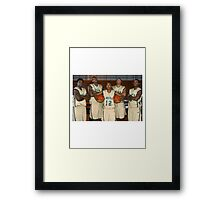 LeBron James (High School Team) Framed Print