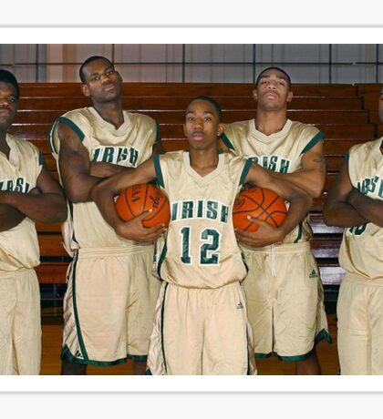 LeBron James (High School Team) Sticker