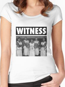 LeBron James (High School Witness) Women's Fitted Scoop T-Shirt