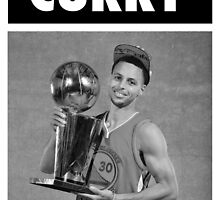 Stephen Curry (Championship Trophy BW) by iixwyed