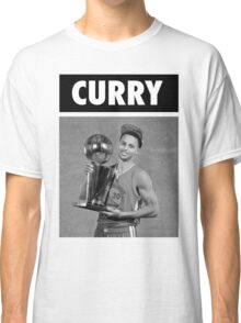 Stephen Curry (Championship Trophy BW) Classic T-Shirt