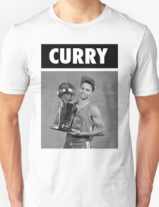 Stephen Curry (Championship Trophy BW) T-Shirt