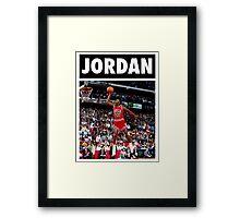 Michael Jordan (Dunk) Framed Print