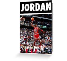 Michael Jordan (Dunk) Greeting Card