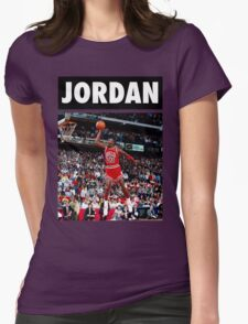 Michael Jordan (Dunk) Womens Fitted T-Shirt