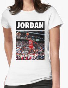 Michael Jordan (Dunk) Womens Fitted T-Shirt