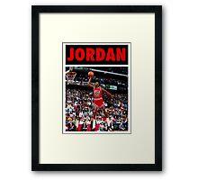 Michael Jordan (Dunk Red) Framed Print