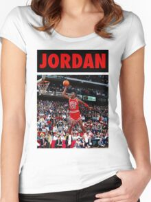 Michael Jordan (Dunk Red) Women's Fitted Scoop T-Shirt