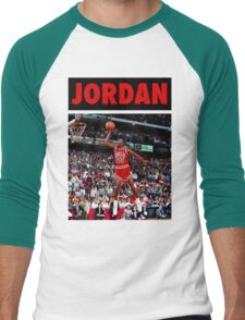 Michael Jordan (Dunk Red) Men's Baseball ¾ T-Shirt