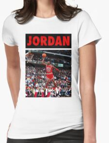 Michael Jordan (Dunk Red) Womens Fitted T-Shirt