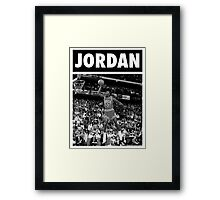 Michael Jordan (Dunk BW) Framed Print
