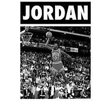 Michael Jordan (Dunk BW) Photographic Print