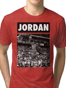 Michael Jordan (Dunk BW) Tri-blend T-Shirt