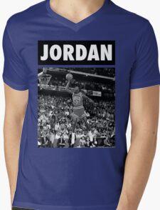 Michael Jordan (Dunk BW) Mens V-Neck T-Shirt