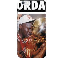 Michael Jordan (Championship Trophy) iPhone Case/Skin