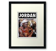 Michael Jordan (Championship Trophy) Framed Print