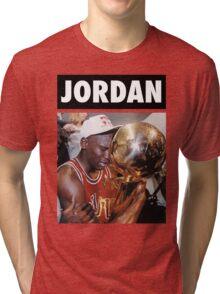 Michael Jordan (Championship Trophy) Tri-blend T-Shirt