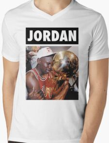 Michael Jordan (Championship Trophy) Mens V-Neck T-Shirt